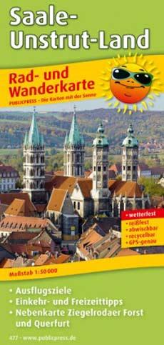 Rad- und Wanderkarte Saale-Unstrut-Land, Publicpress