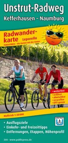 Radwanderkarte Unstrut-Radweg, Publicpress