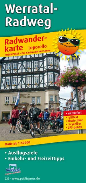 Radwanderkarte Werratal-Radweg, Publicpress