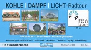 Radwanderkarte Kohle-Dampf-Licht-Radtour
