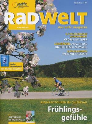 Zeitschrift Radwelt - das ADFC-Magazin, Ausgabe Feb/März 1.11