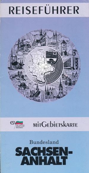 Reiseführer Bundesland Sachsen-Anhalt mit Gebietskarte (1993)