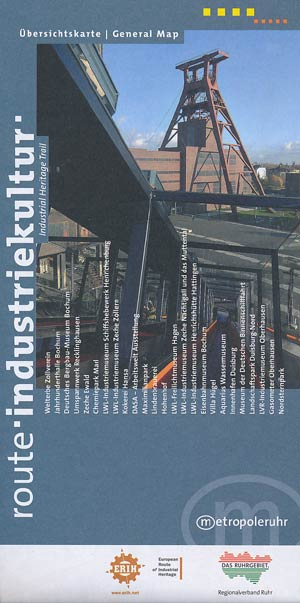 Übersichtskarte Route Industriekultur Metrople Ruhr