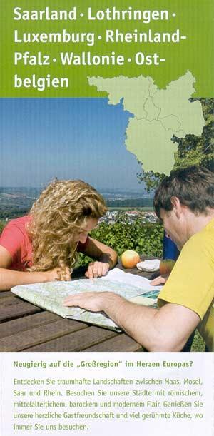 Touristische Karte der Großregion Saarland - Lothringen - Luxemburg - Rheinland-Pfalz - Ostbelgien