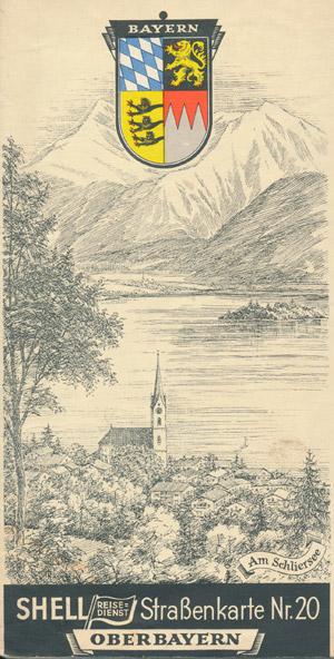 Shell Straßenkarte Nr. 20 Oberbayern (alt)