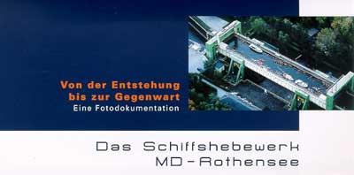 Infoflyer zum Schiffshebewerk Magdeburg-Rothensee