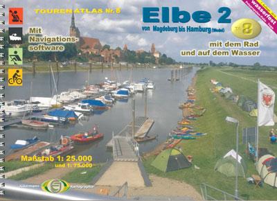 Tourenatlas TA8 Elbe 2 von Magdeburg bis Hamburg (Wedel), Jübermann Verlag