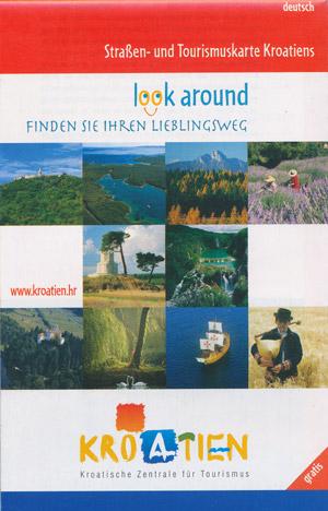 Straßen- und Tourimuskarte Kroatiens (deutsch)