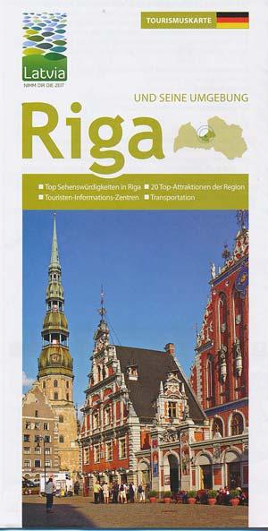 Tourismuskarte Riga und seine Umgebung