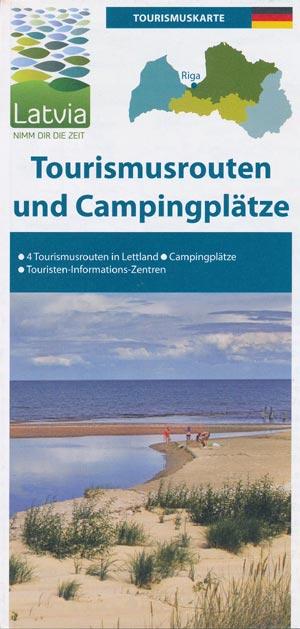Tourismusrouten und Campingplätze in Lettland (Latvia)