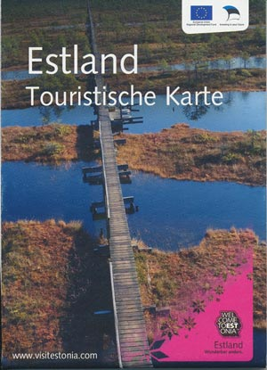 Touristische Karte Estland - welcome Estonia
