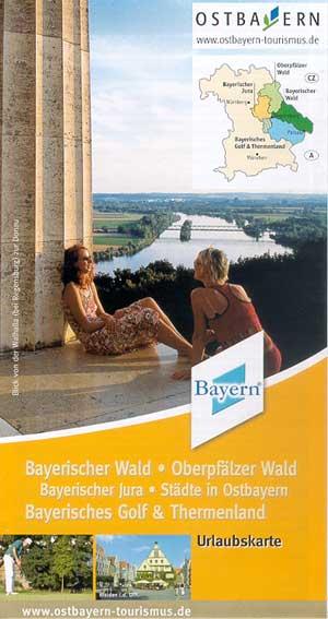 Urlaubskarte Bayrischer Wald - Oberpfälzer Wald