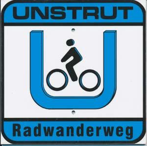 Unstrut-Radweg-Souvenirschild, 17x17cm