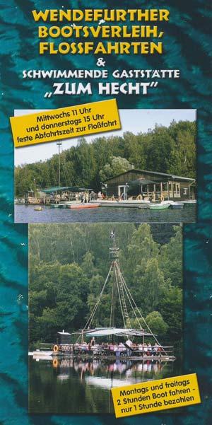 Wendefurther Bootsverleih, Flossfahrten und schwimmende Gaststätte