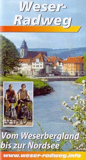 Weserradweg Faltblatt