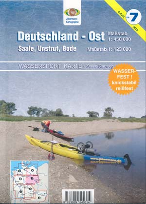 Wassersport-Wanderkarte WW7 Deutschland-Ost mit Saale, Unstrut, Bode